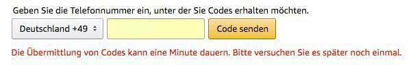 code verivizierung amazon