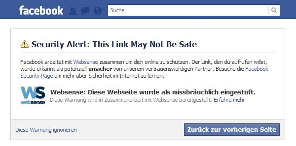 Facebook-websense-Problem